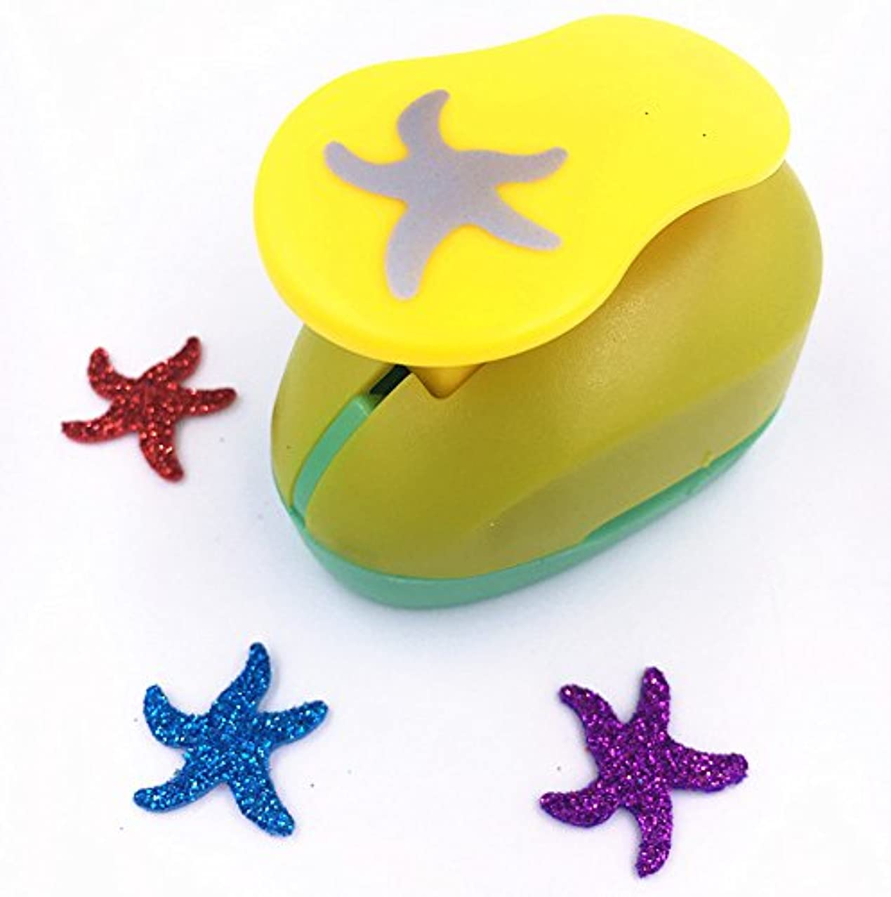 TECH-P Creative Life(2CM-2.5CM) Multi-pattern Hand Press Album Cards Paper Craft Punch,card Scrapbooking Engraving Kid Cut DIY Handmade Hole Puncher. (Starfish)