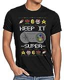 style3 Keep it Super Ugly Sweater Herren T-Shirt SNES x-Mas Pulli Weihnachtsbaum, Größe:XXXL