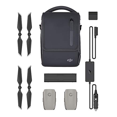 DJI - Mavic 2 Fly More Kit | met 2 intelligente vliegaccu's, 1 meervoudige oplader, 1 auto-oplader, Low-Noise propellers en 1 draagtas
