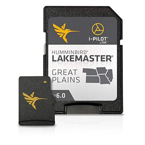 Humminbird 600017-4 LakeMaster Plus Great Plains V1 Digital GPS Maps Micro Card