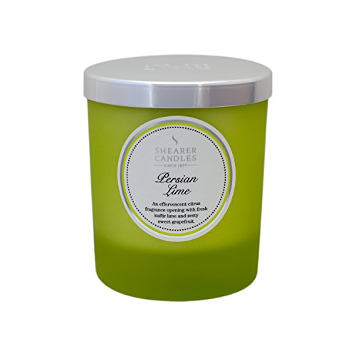 Shearer Candles Persian Lime Scented Jar Candle with Silver Lid - Green
