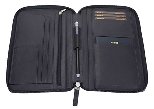 HORNBULL Leather Passport Holder (Black_HBCL15FL001)