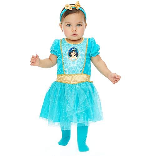 Disney Princess Jasmine Baby Girls Costume Dress Tights & Headband Set 12 Months