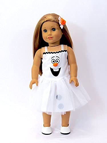 Olaf Dress for 18 Inch Dolls (Frozen Inspirot) by American Fashion World