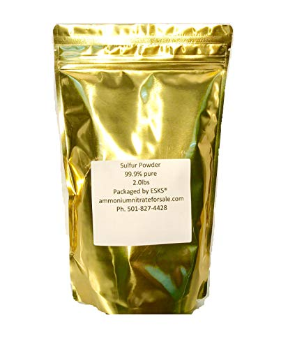 Sulfur Powder 2lb 99.9 Percent Pure Easy Open RESEALABLE Bag!