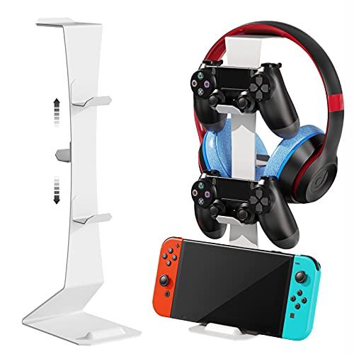 MiiKARE Supporto universale per controller da gioco con gancio magnetico, salvaspazio, leggero, antiscivolo, per Xbox One/Xbox360/PS4/Nintendo Switch/Headset