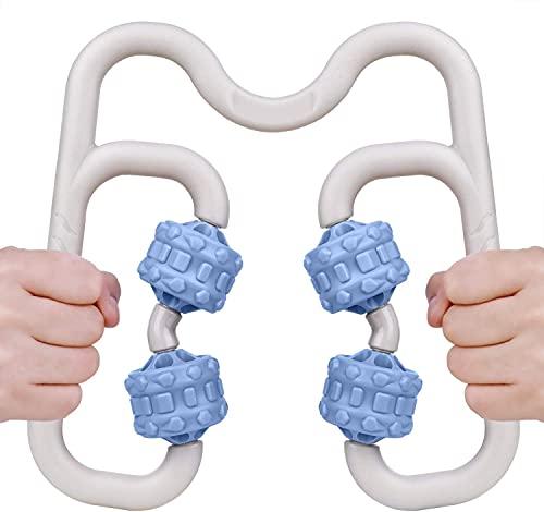 Muscle Rollemassager, Awanber Body Massage Roller Werkzeug für Entlastung Muskelkater, Krämpfe und Dichtigkeits, Cellulite-Entferner und schnellere Wiederherstellung verwendet in Home Office-Blau