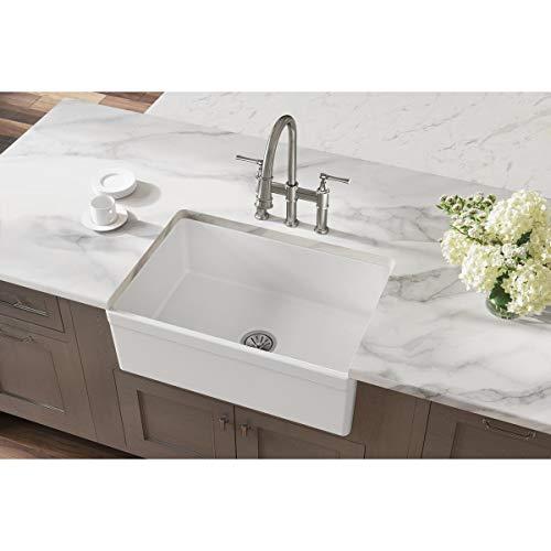 Elkay Fireclay SWUF28179WH Single Bowl Farmhouse Sink