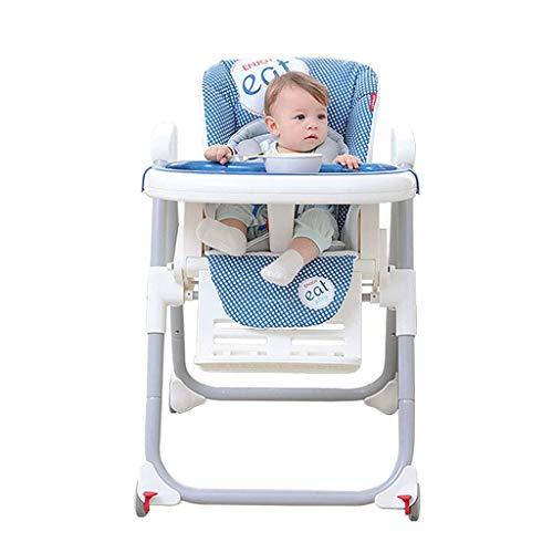 Kinderstoelen Draagbare Eten Stoel Baby Booster Vouwen Eenvoudig op te bergen Reclining Kan Zitten Thuis Outdoor Eetstoel - Blauw A+ 1 exemplaar