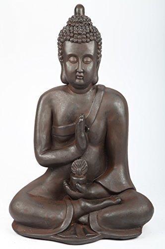 Buddha assis sculpture de jardin 64 cm, de point-garden, neuf