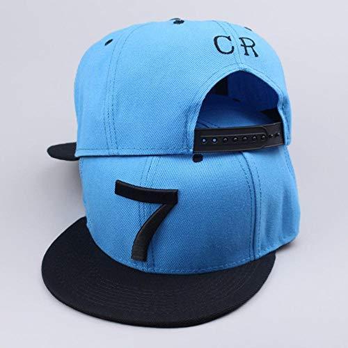 AIMICONG Cap Cr7 Schwarz Blau Baseball Caps Hip Hop Sport Snapback Fußball Hut Männer Frauen-B