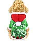 Handfly Mascota Perro Gato Ropa de Navidad Traje de Perro de Navidad Trajes de Gato Sudaderas con Capucha para Perros Suéter para Perro Abrigo de Invierno para Mascotas Ropa para Perros pequeños