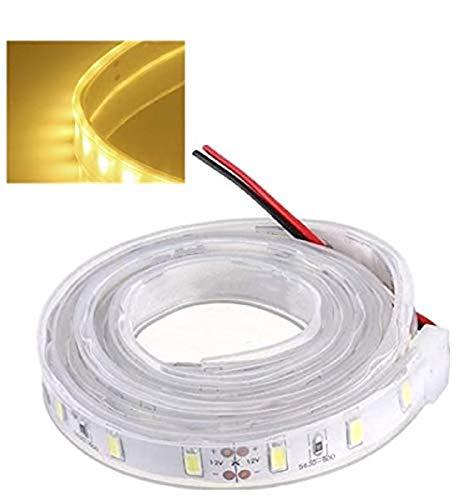 MASUNN 1 M 5630 SMD LED Silicone Strip Light Couleur Chaude Étanche 12V