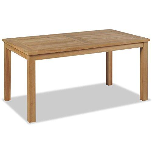 FZYHFA FZYHFA Couchtisch Teak Holz mit Finish (geschliffen) 90x 50x 45cm braun