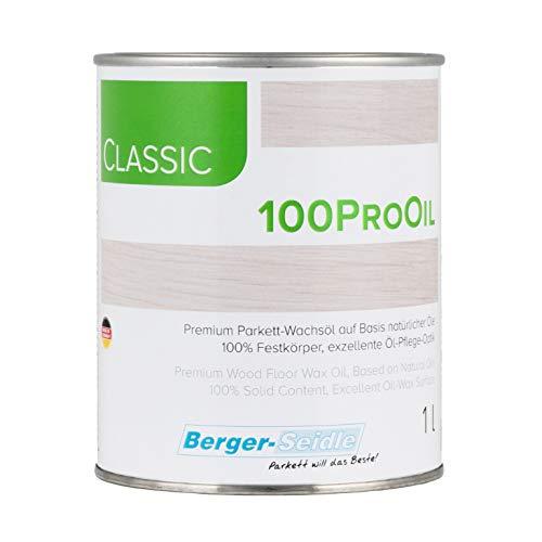 "Berger-Seidle Parkett Pflege Wachs/Öl, Tiefenimprägnierung ""Classic 100Pro Oil"", 125ml, 1L oder 5 Liter Gebinde (1 Liter)"