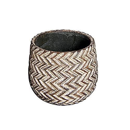SUHETI Macetas de Cemento con Patrón de Neumáticos, Creatividad Maceteros Decorativos Interior, para Flores Áloe Orquídea Plantas Suculentas Cactus,A