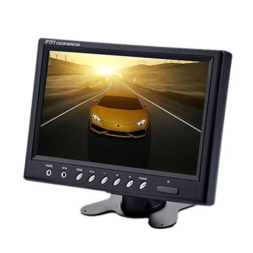 ETbotu 9 Inch TFT LCD Monitor - 800x480 NTSC/PAL Hoofdsteun Frame Twee Weg Video Input 7W