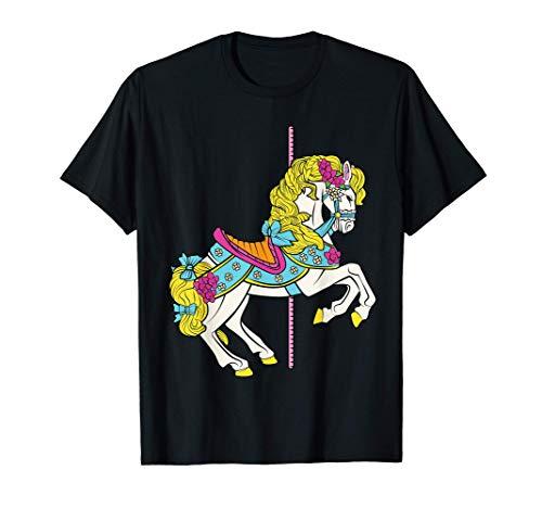 Carrusel Caballo Pony Carnaval Paseos Condado Feria del Esta Camiseta