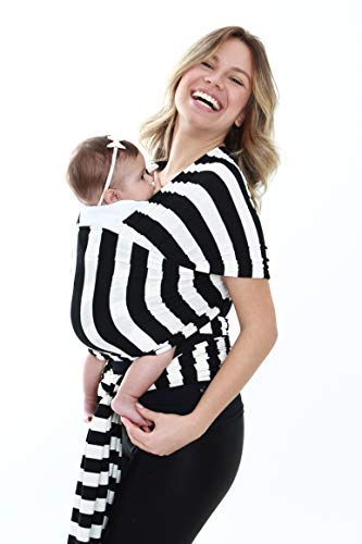 BabyWrap Carregador de bebê tipo sling (Black & White)