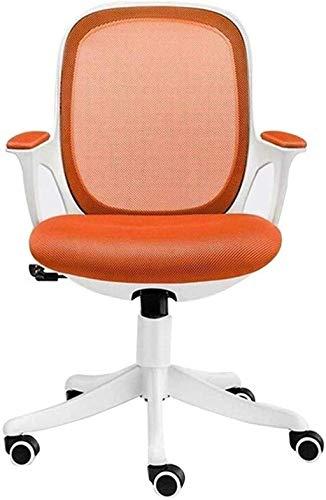 Sillas de Oficina Silla de Juego Altura Ajustable Malla de la computadora Silla de Oficina de diseño ergonómico Silla de Escritorio Giratorio (Color : Orange)
