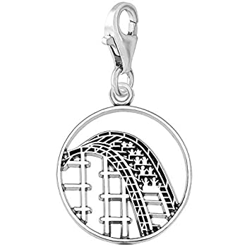 Rembrandt Charms Roller Coaster Charm with Lobster Clasp Sterling Silver