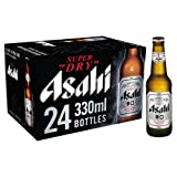 """Asahi Super Dry Beer - Japan's No 1 Beer   Authentic Japanese Recipe   Refreshing & Crisp Dry Finish """"Karakuchi Taste""""   Brewed With Precision By Japanese Master Brewers - 5.2% ABV - 24 x"""
