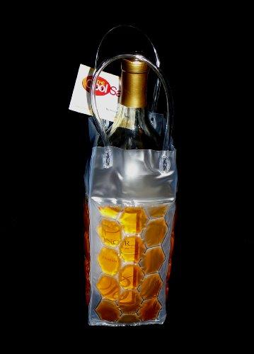 Zees Inc Pocket Bottles Cs2005 Freezable Wine Tote, Orange