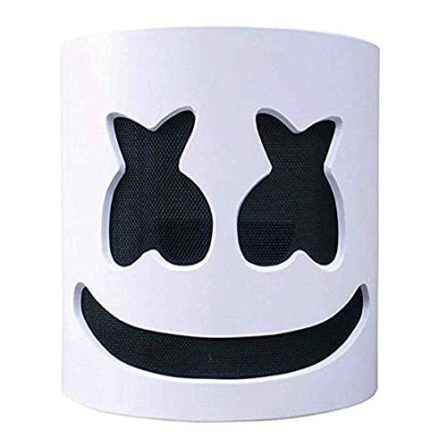 Máscara de DJ Luz LED Disfraz de Halloween Máscara Festival de música Bar Singer Cosplay (Sin LED)