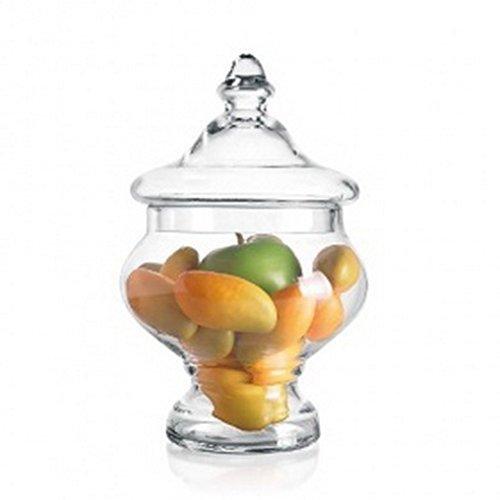 Glazen potje, glas, H 30 x D 19,5 c glas, H 30 cm, ø 19,5 cm