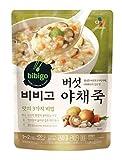 Cj Bibigo Korean Pre-made Packaged Food, mushroom vegetable Rice porridge 450gram 비비고 버섯 야채죽