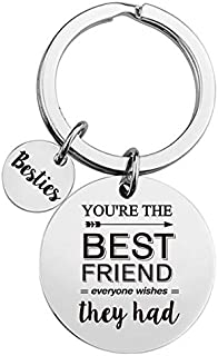 Inspirational Motivational Friendship Quotes Stainless Steel Key Chain Ring-Best Friends Keychain Gift - Friendship Men/Wo...