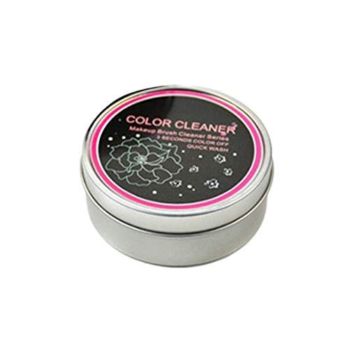 AnXiongStore Limpiador de brochas de Maquillaje, Esponja cosmética de Limpieza en seco, Caja de hojalata Limpia, Herramientas de Maquillaje de Moda para Mujeres