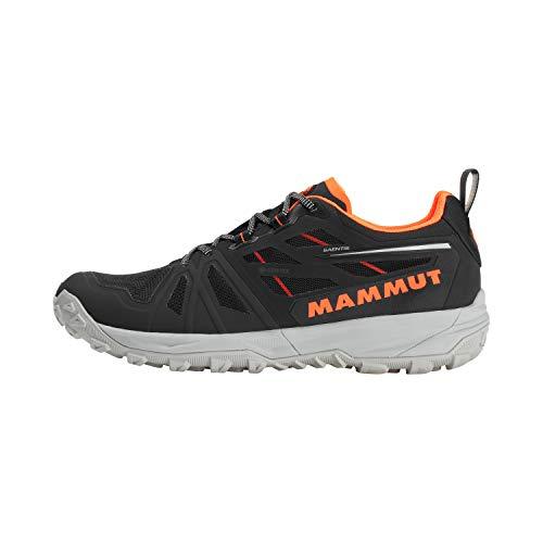 MAMMUT Zapatilla SAENTIS Low GTX, Senderismo Hombre, Black/Vibrant Orange, 40 1/3 EU