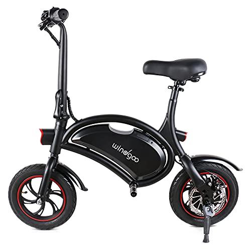 Windgoo Bicicleta Electrica Plegables, 350W Motor Bicicleta Plegable 25 km/h y 15 km, Bici...