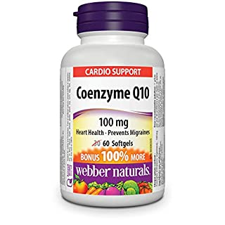 Webber Naturals Coenzyme Q10 High Potency Antioxidant Softgel, 100mg (B00FGP3F5G) | Amazon price tracker / tracking, Amazon price history charts, Amazon price watches, Amazon price drop alerts