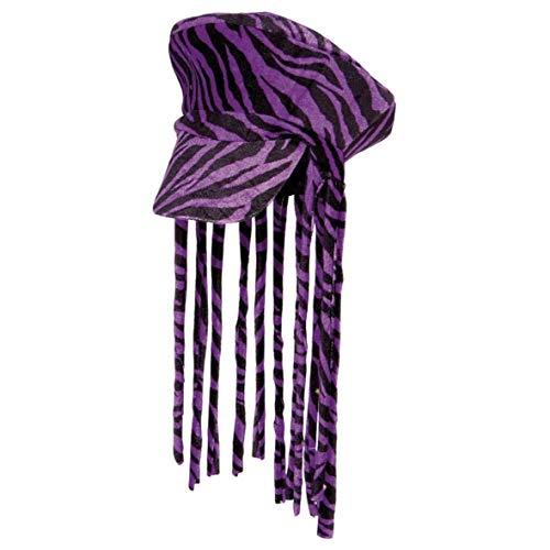 Bonnet Rasta Peak et dredlocks Violet
