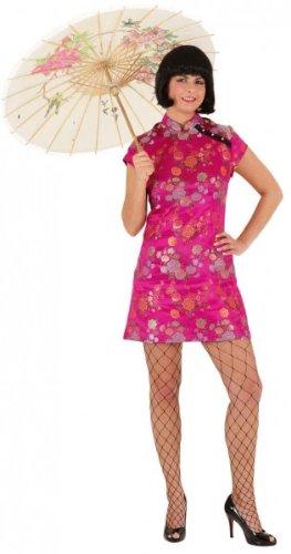Damen-Kostüm Sexy Chinesin, pink, Gr. 36