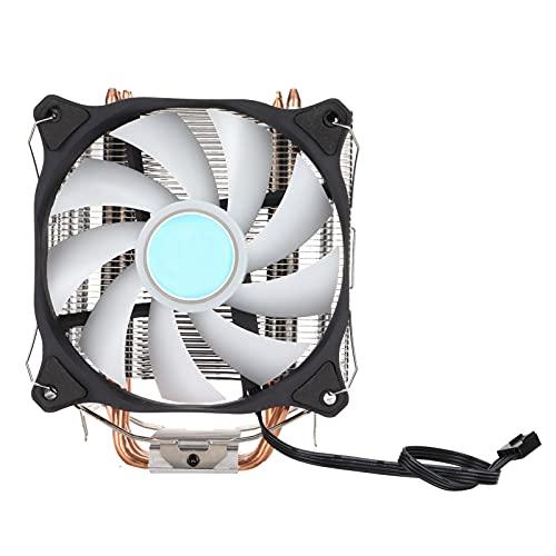 Enfriador de CPU, 4 radiadores silenciosos de Tubo de Calor de Cobre Puro con Ventilador RGB, Aletas de disipador de Calor de Material de Aluminio Puro de 150x128x75 mm, Proceso de Aletas