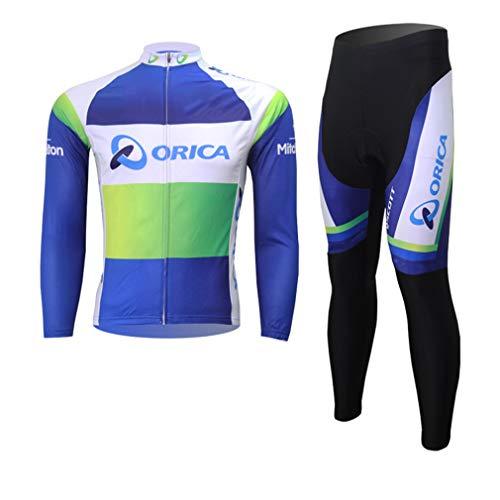 Secret night lente en herfst de mannen dunne lange mouwen broek trui casual ademende mountainbike fietsshirt set