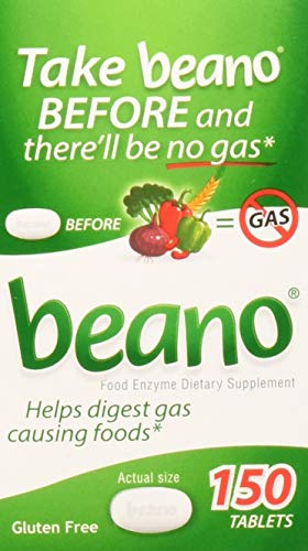 Beano Gas Relief Digestion (150 tablets) (150 tablets (1 bottle)) by Beano