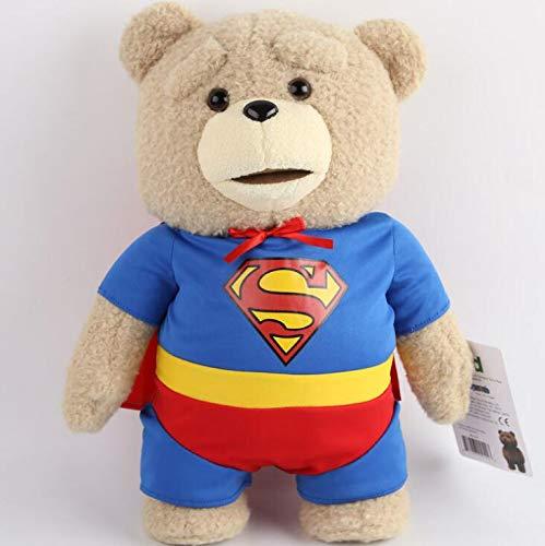 YUNMEI Muñeca de Peluche de Superman 1 Piezas Lindo Superman Plush Toys Brithday Regalo Juguetes para niños 40 cm