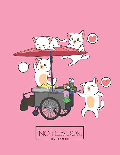 Notebook: Kawaii cats and portable pink cover and Lined pages, Extra large (8.5 x 11) inches, 110 pages, White paper (Kawaii cats and portable pink notebook, Band 4)