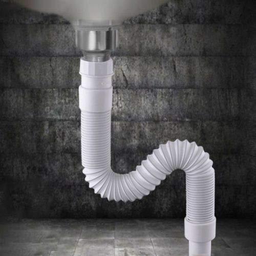 Bathroom Sink Flexible Pipe Sink Basin Strainer Water Drain Hose Tube Kitchen