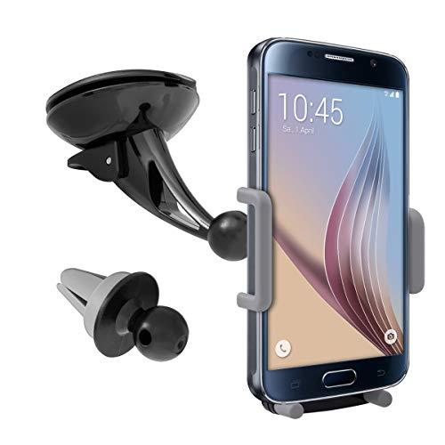 kwmobile KFZ Scheiben Smartphone Halterung - mit Saugnapf - verstellbar - Auto Windschutzscheiben Halter für Handys - 5,5-9,5 cm Innenmaße
