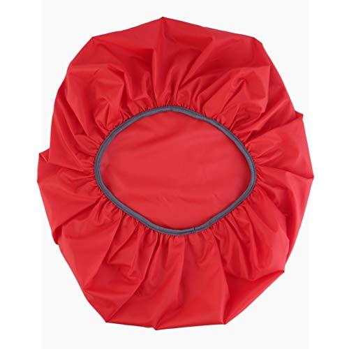 Rojo/Negro Nylon Impermeable y a Prueba de Polvo Ultraligero y Ajustable Mochila de Viaje para Acampar Mochila Cubierta para Lluvia y Polvo 30-40L (Rojo)
