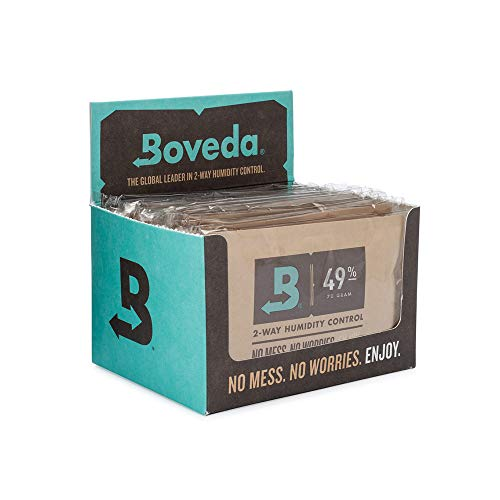 Boveda for Music | 49% RH 2-Way Humidity Control Replacement for Use in Fabric Holder | Size 70 for Fretted and Bowed Wood Instruments | Prevents Cracking and Warping | 12-Count Retail Carton