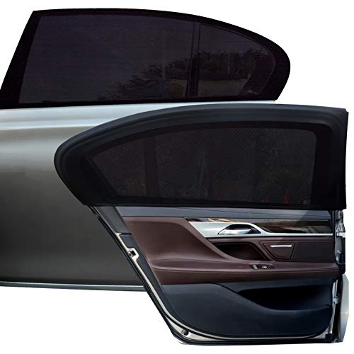 Tevlaphee Auto Sonnenshutz Kinder Universal Sonnenblende Auto Netz Sonnenschutz Auto Baby mit Zertifiziertem UV für Seitenfenster Meshmaterial Schützt Mitfahrer, Baby,...