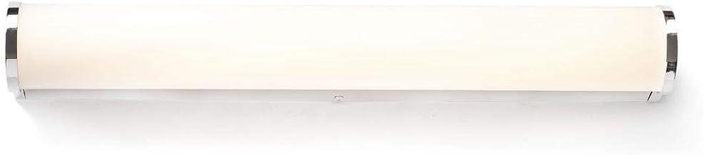 Badkamerlamp badkamerlamp LED wandlamp 575 mm van chroom en wit glas 2700K Danubio IP44 metalen badkamer   1-lamp