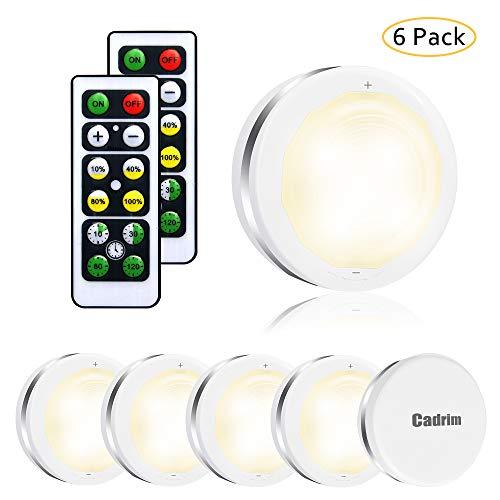 LED Schrankleuchte,6Set Scheankbeleuchtung Led Nachtlicht mit Fernbedienung Treppen Licht Unterbauleuchte Schrank Lichter für Schlafzimmer, Kleiderschrank, Kabinett,Kuche