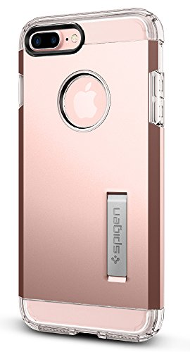 Spigen Tough Armor iPhone 7 Plus Case with Reinforced Kickstand and Heavy Duty Protection and Air Cushion Technology for Apple iPhone 7 Plus (2016) - Rose Gold